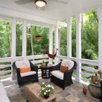 Screened porches done beautifully finished project